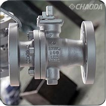 Class300钢制缩径固定球阀